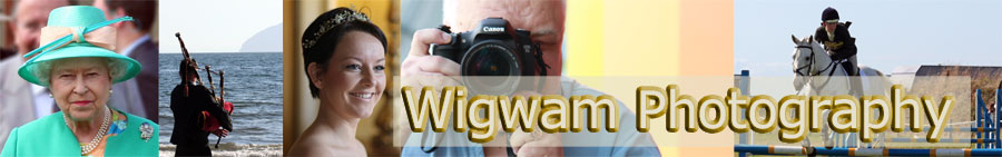 Girvan photographer - Wigwam Photography Ayrshire Scotland - header and logo